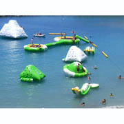 inflatable water sport park