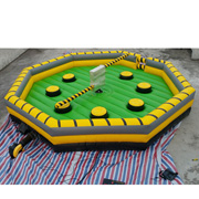 Inflatable wipeout eliminator mechanical rodeo game,inflatable last man standing