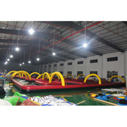Inflatable race track car race track