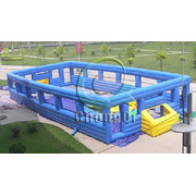 Heightening type inflatable soccer field