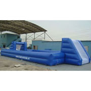 inflatable water football games