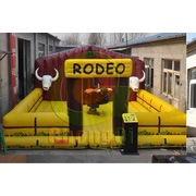inflatable bull riding games