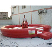 inflatable bull ride game