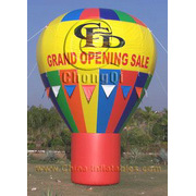 colourful inflatable ground balloon