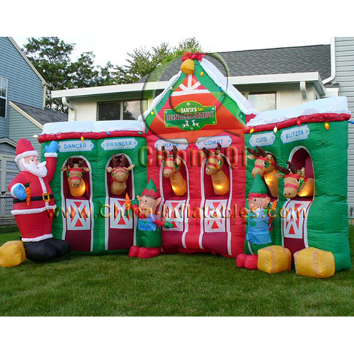 good quality inflatable Christmas Inflatable house No.:CQX143 For ...