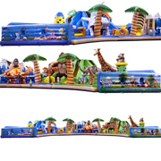 inflatable fun city amusement park