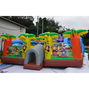 jungle tree inflatable amusement park Dora
