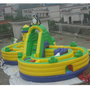 penguin inflatable amusement park