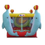 dolphins inflatable bouncer