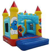 bouncer inflatable Smurfs jumping castles