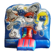 cheap Smurfs bouncer inflatable