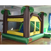 palm tree jungle inflatable bouncer