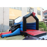 Superman inflatable bouncer slide jumping castles