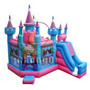 bouncy castle with digital print pattern