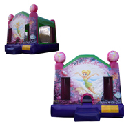 inflatable Tinkerbell bouncer castle princess