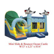 inflatable combo bouncy dolphin slide