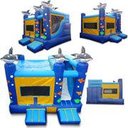 inflatable combo slide bounce houses dolphin
