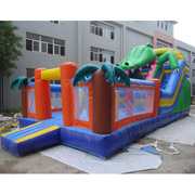 inflatable palm tree jungle slides