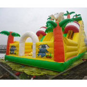 inflatable elephant jungle slides