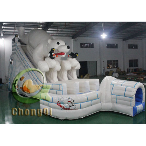 Inflatable Water Slide China: Polar Bear Inflatable Slides For Sale No.:CQS875 For Sale
