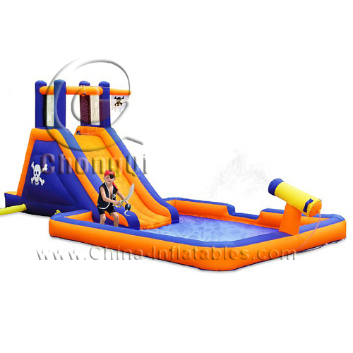 Inflatable Water Slide With Price: Giant Inflatable Water Slide No.:CQWS102 For Sale Factory
