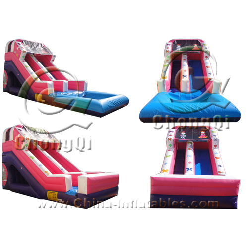 Inflatable Water Slide To Rent: Rental Inflatable Water Slide No.:CQWS132 For Sale Factory