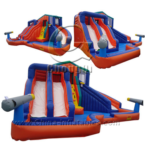 Inflatable Water Slide With Price: Adult Size Inflatable Water Slide No.:CQWS282 For Sale