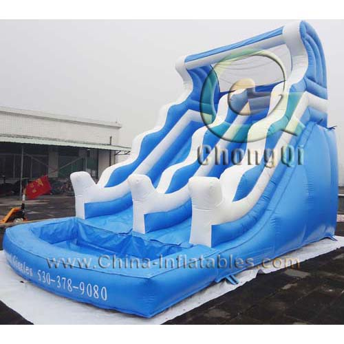 Inflatable Water Slides For Sale: Cheap Inflatable Water Slides No.:CQWS293 For Sale Factory