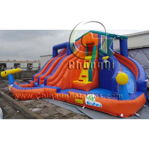 Inflatable Water Slides For Sale: Cheap Inflatable Water Slides No.:CQWS310 For Sale Factory