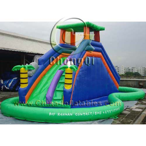 Inflatable Water Slide With Price: Cheap Inflatable Water Slides No.:CQWS311 For Sale Factory