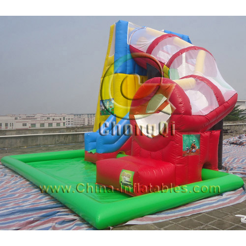 Inflatable Water Slide With Price: Cheap Inflatable Water Slides No.:CQWS321 For Sale Factory